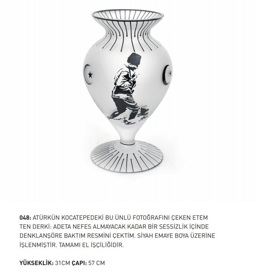 Vazo Atatürk Resmi Işlemeli En Uygun Fiyatlarla Pc Kitap Ve